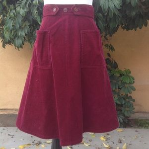 Vintage L.L. Bean burgundy corduroy wrap skirt